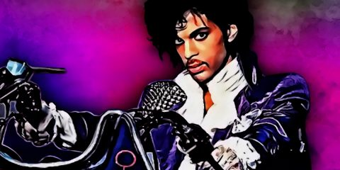 Colourful painting of Prince