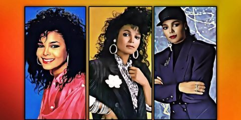 3 colourful painted images of janet jackson