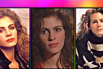 Julia Roberts in three poses including Pretty Woman