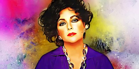 Beautiful painted image of Elizabeth Taylor