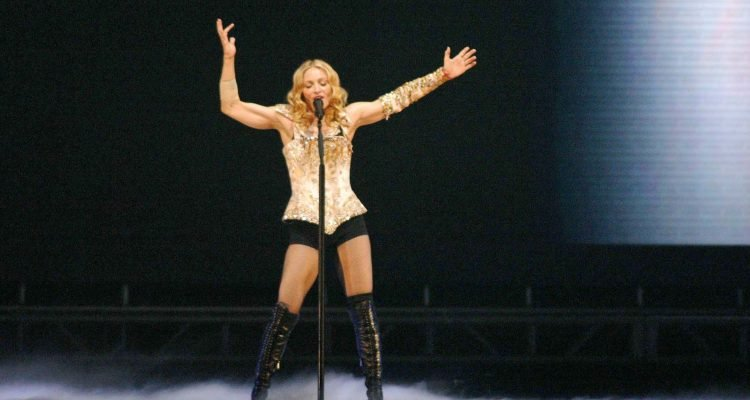"""Madonna at the opening night of Madonna's """"Reinvention Tour - 2004"""" at The Forum, Inglewood, CA. 05-24-04"""