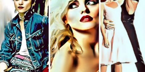 Collage of Madonna, Blondie and Dirty Dancing