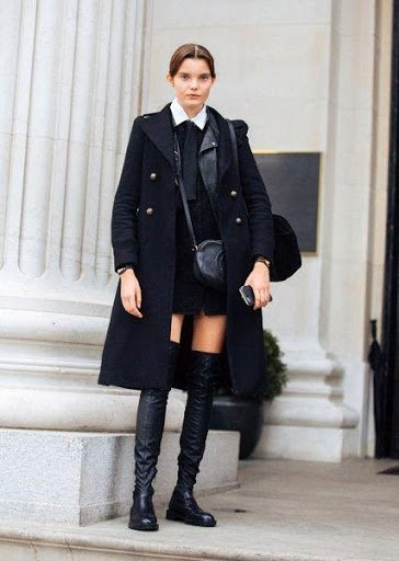 Style Caster - women wearing preppy winter outfit