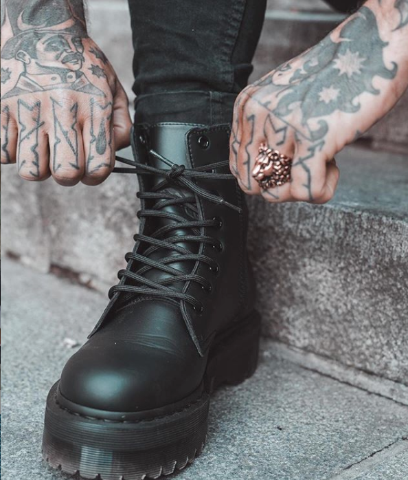 Photo by Dr Martens (Vegan Jadon II Mono Platform Boots)