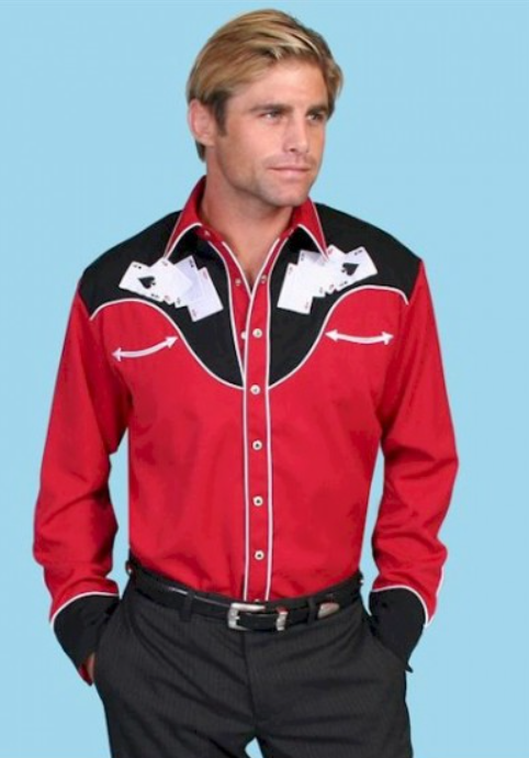 "Photo by Western Shirts (Mens Embroidered Cowboy Shirt – ""Hold 'Em"")"