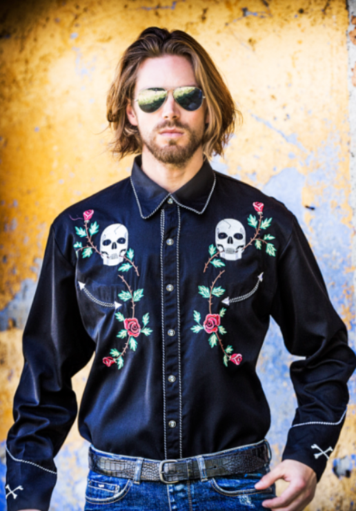 "Photo by Western Shirts (Mens Embroidered Western Shirt - ""Rockabilly"")"