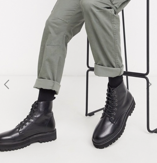 Photo by Asos (Asos Design Lace-Up Boots in Black)