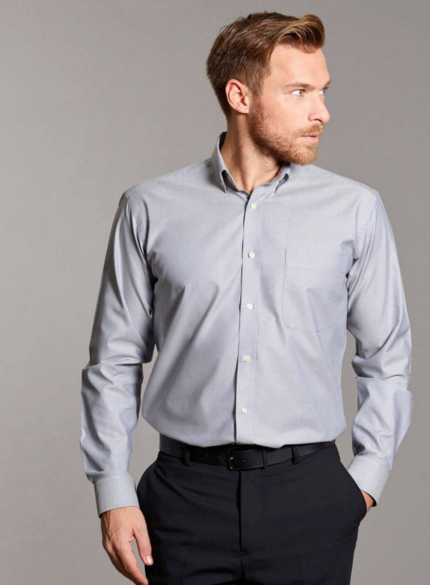 Photo by PPG Workwear (Disley Men's Oxford Shirt with Button Down Collar)