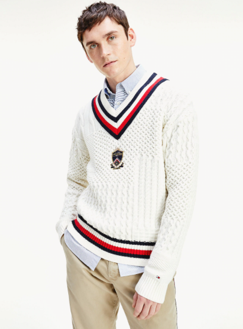 Photo by Tommy Hilfiger (Contrast Cable Knit Jumper)