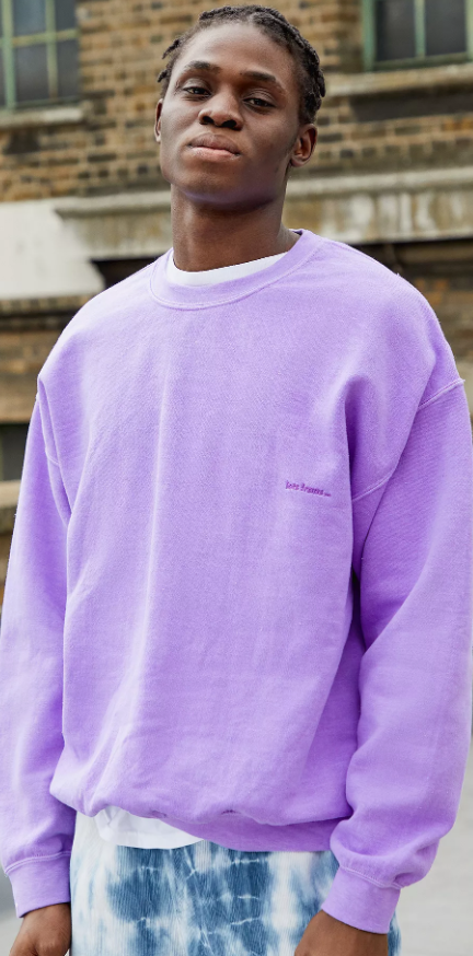 Photo by Urban Outfitters (iets frans Men's Overdyed Purple Crew Neck Sweatshirt)