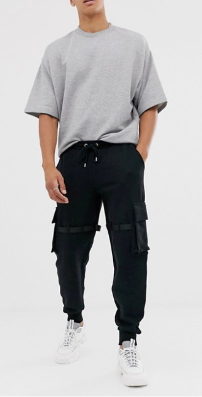 Photo by Asos (Asos Design Utility Joggers with Multiple Pockets and Strapping)