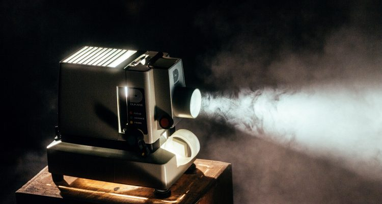 Eighties projector showing a film