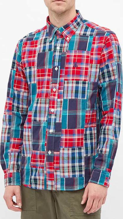 Photo by End Clothing (Sophnet Patchwork Madras Check Shirt)